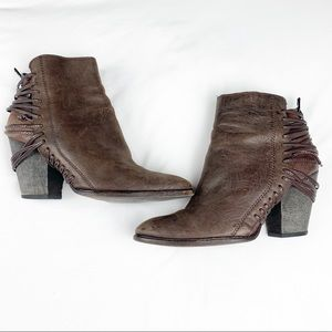 Dolce Vita Brown Leather Booties